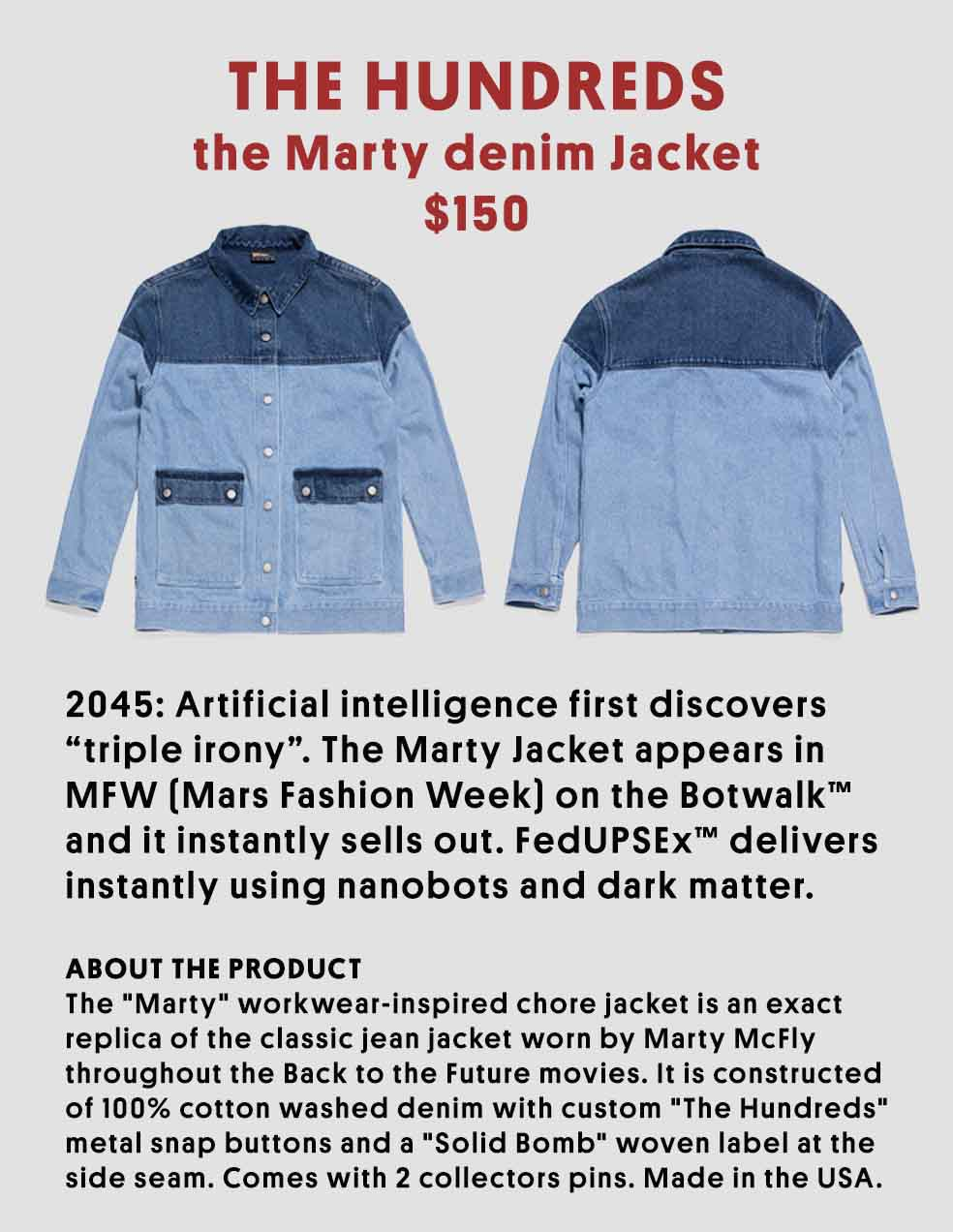 Stefan's Head - Jacket - Back to the Future Day