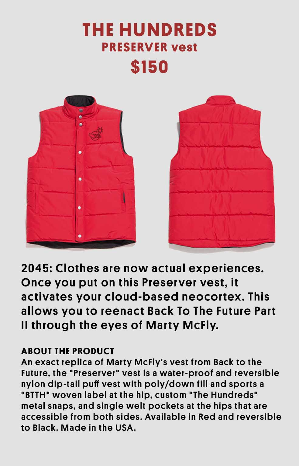 Stefan's Head - Vest - Back to the Future Day