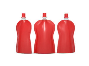 Red spouted pouches