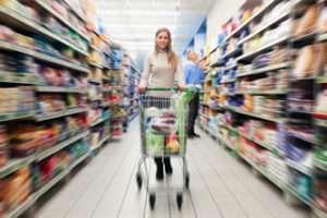 Shopper aisle view
