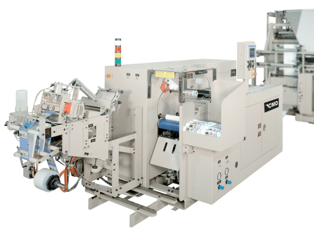 The best overlap bag winder for interleaved bags and one at a time dispensing