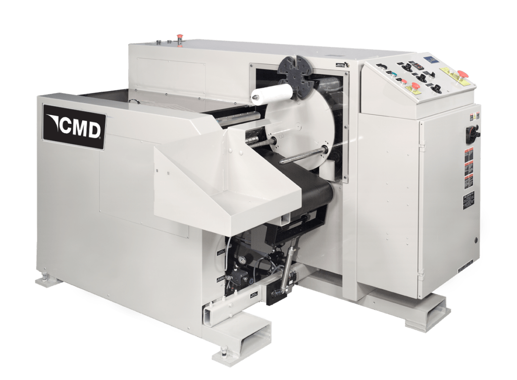CMD winder for perf-connected bags on rolls