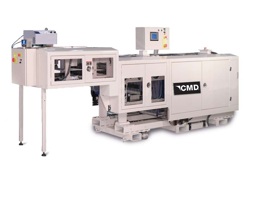 The CMD 3113 folder can individually cross fold bags once, twice, or three times