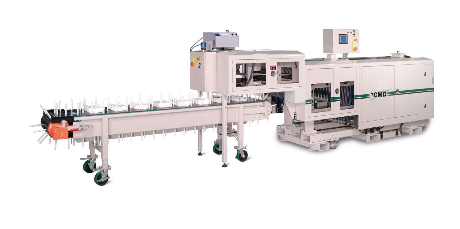 CMD Folder with Auto Stacker and Bucket Conveyor