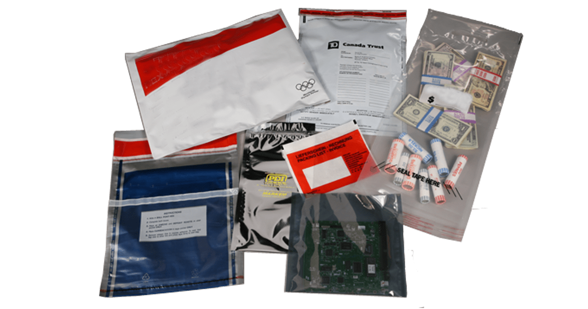 Produce a variety of security and protective bags and pouches