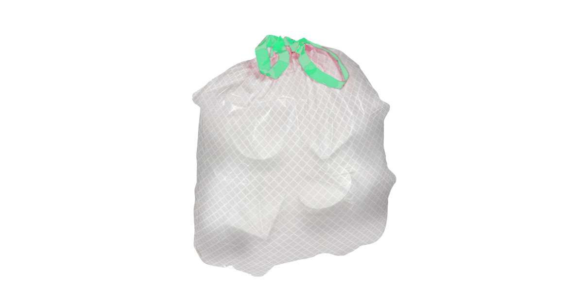 Embossed drawtape bag