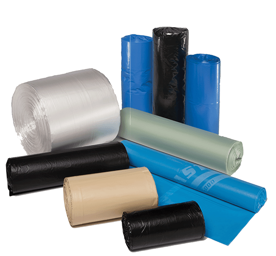 plastic bags and sheeting on rolls