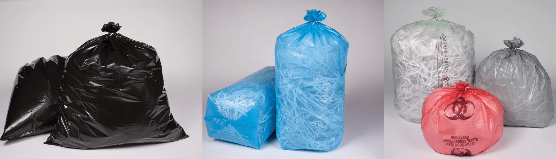 Can liners, handle bags, printed bags, lawn & garden, clean room applications