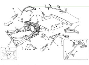 ferrari-458-rear-frame-elements-parts-diagram