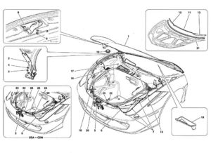 ferrari-458-front-hood-parts-diagram