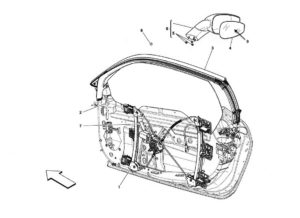 ferrari-458-power-windows-side-mirror-parts-diagram