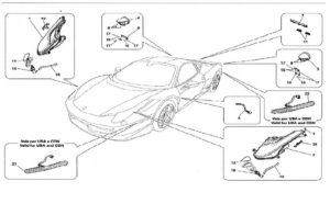 ferrari-458-italia-front-rear-lights-parts-diagram