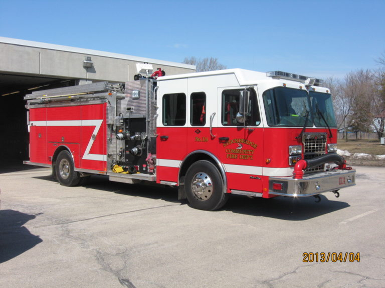 2008 Spartan Chassis with a Rosenbauer Body with a 1500 GMP Darley Pump