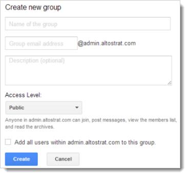 Add Google Group