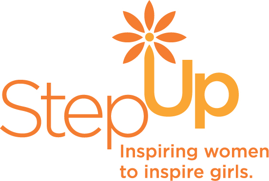 Step up logo tagline orange