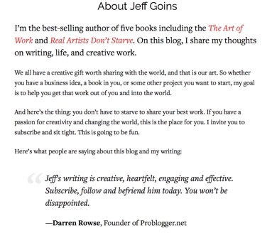 best author writer websites jeff goins