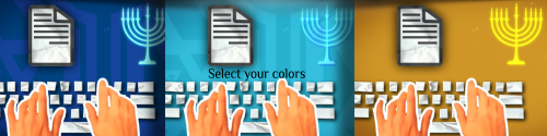 Happy hanukkah greetings by steve314 videohive select your colors to create your version m4hsunfo