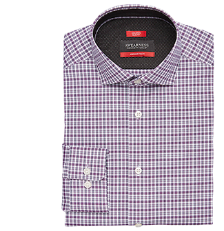 Purple Check Dress Shirt