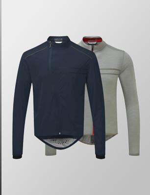 Waterproof Jacket + Long Sleeve Classic Jersey