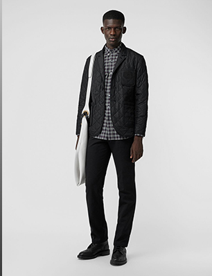 Diamond Quilted Thermoregulated Blazer