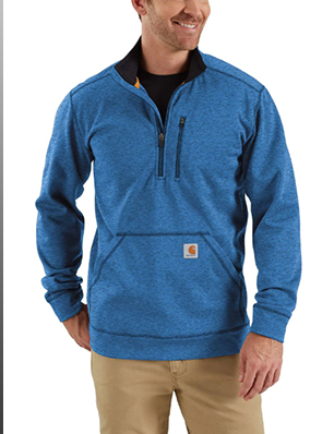 FORCE EXTREMES® MOCK NECK HALF ZIP SWEATSHIRT