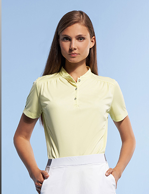 POLO SHIRT WITH MANDARIN COLLAR