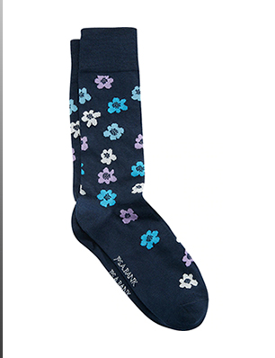 Travel Tech Floral Mid-Calf Socks