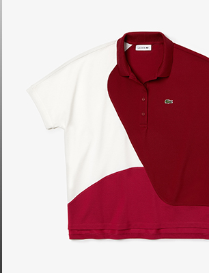 Polo Shirt in Color-block Thermoregulator
