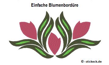 20170308 - Einfache Blumenborduere - stickeck.de