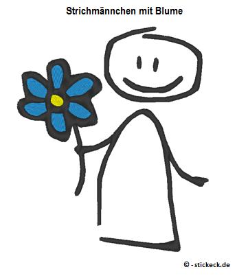 20170310 - Strichmaennchen mit Blume - stickeck.de