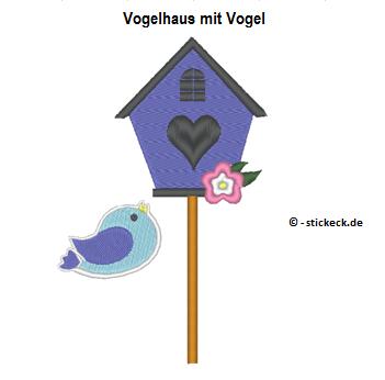 20170311 - Vogelhaus mit Vogel - stickeck.de