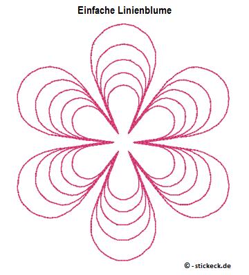20170322 - Einfache Linienblume - stickeck.de