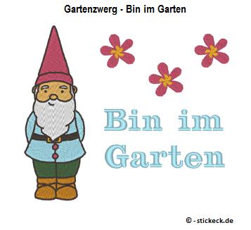 20170325 - Gartenzwerg - Bin im Garten - stickeck.de