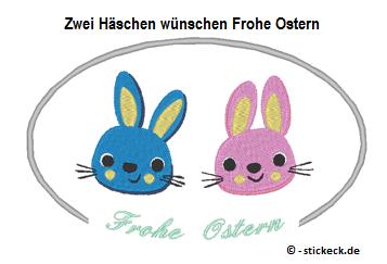 20170329 - Zwei Haeschen wuenschen Frohe Ostern - stickeck.de