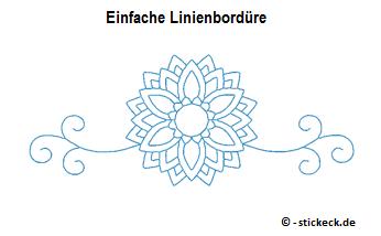 Einfache Linienborduere - stickeck.de