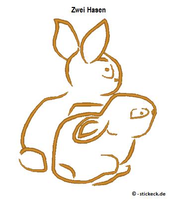 20170403 - Zwei Hasen - stickeck.de