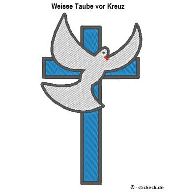 20170404 - Weisse Taube vor Kreuz - stickeck.de