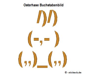 20170407 - Osterhase Buchstabenbild - stickeck.de