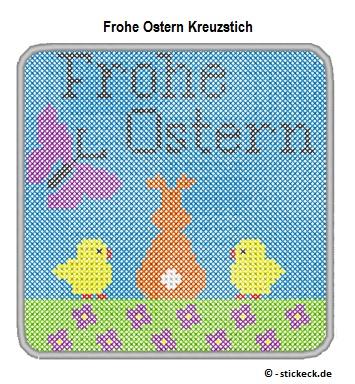 20170415 - Frohe Ostern Kreuzstich - stickeck.de