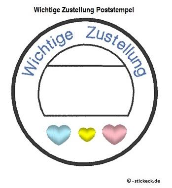 20170421 - Wichtige Zustellung Poststempel - stickeck.de