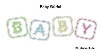 20170423 - Baby Wuerfel - stickeck.de