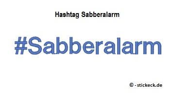 20170424 - Hashtag Sabberalarm - stickeck.de