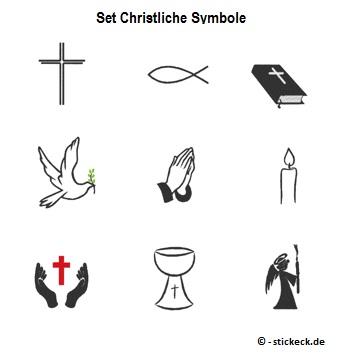 20170428 - Set Christliche Symbole - stickeck.de