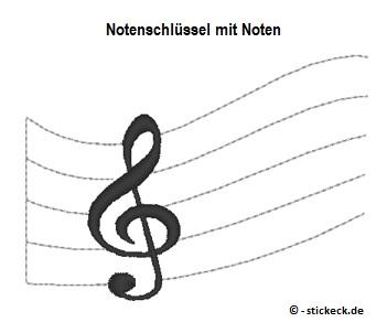 20170508 - Notenschluessel mit Noten - stickeck.de