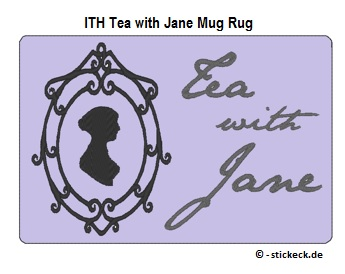 20170524 - ITH Tea with Jane Mug Rug - stickeck.de