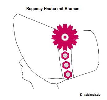 20170526 - Regency Haube mit Blumen - stickeck.de