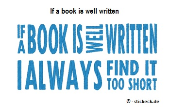 20170527 - If a book is well written - stickeck.de