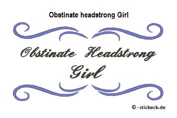 20170601 - Obstinate headstrong Girl - stickeck.de