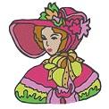 Kostenlose Stickdatei:Mädchen im Regency Outfit