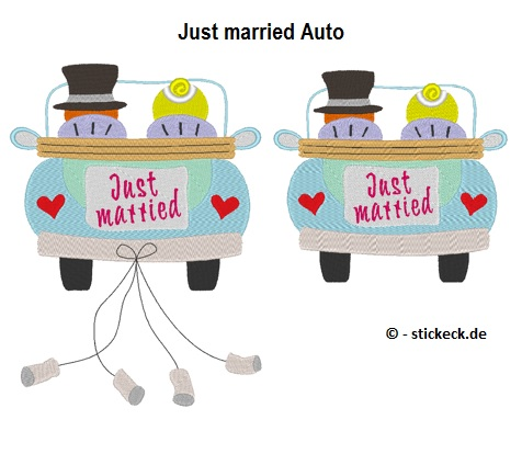 20170617 - Just Married Auto - stickeck.de